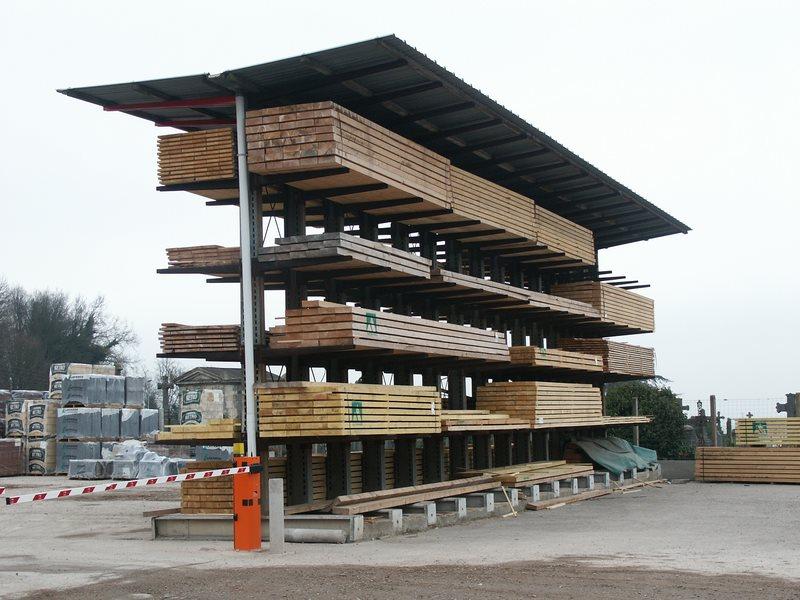 sistemas de almacenaje cantilever de carga pesada para el exterior