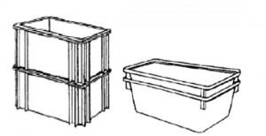 equipo de manutención contenedores apilables