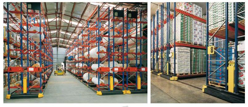 estanterías industriales bases moviles