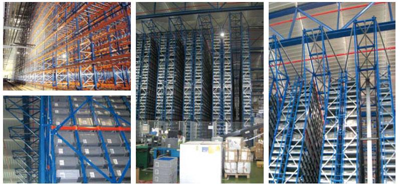 estanterías industriales estantería servida por transelevador
