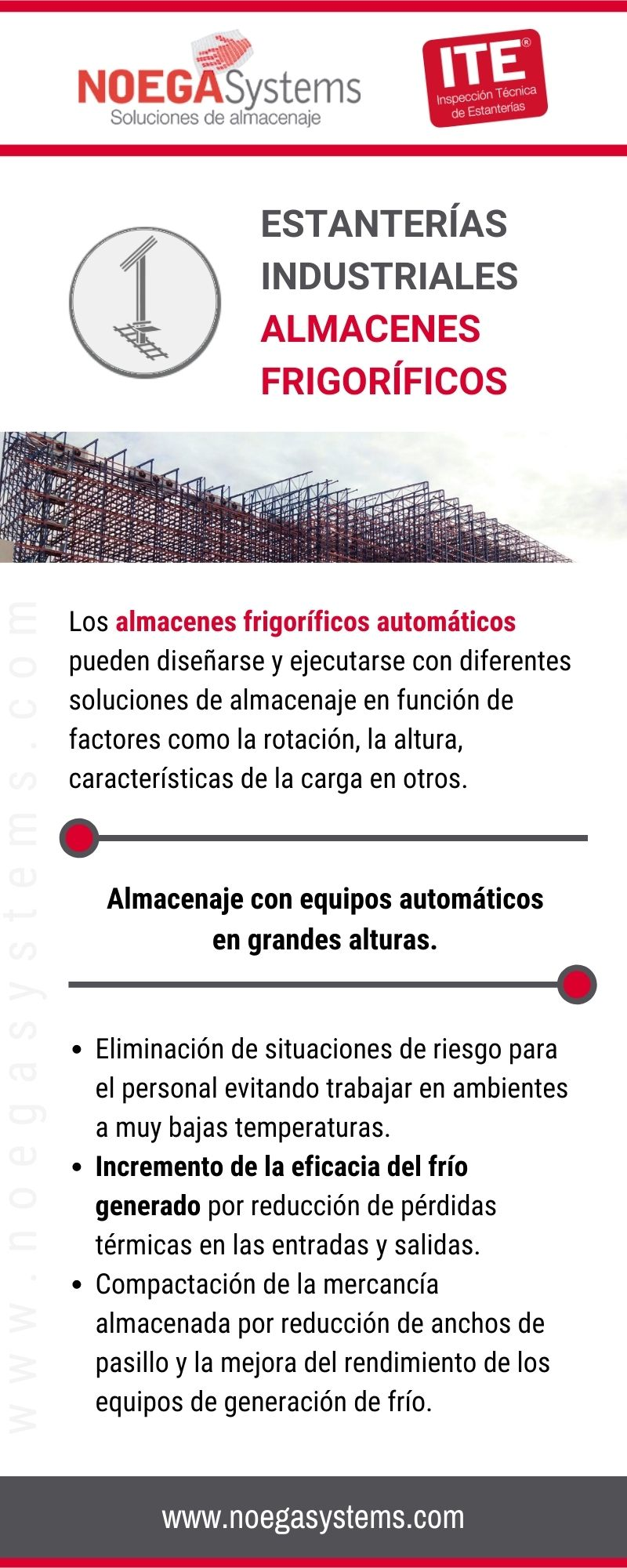 Infografía Estanterías Industriales Almacenes Frigoríficos