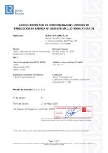 Anexo Certificado EN 1090