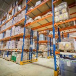 Safety elements of industrial steel racking