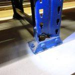La seguridad de las estanterías industriales, puntal seccionado